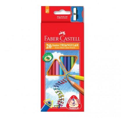 Farbičky Faber Castell Junior Triangular, súprava 20 ks