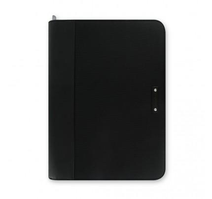 Portfólio so zipsom a kalkulačkou Filofax Microfiber, A4, čierne