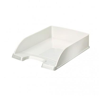 Stolová zásuvka Leitz WOW Plus, metalická biela
