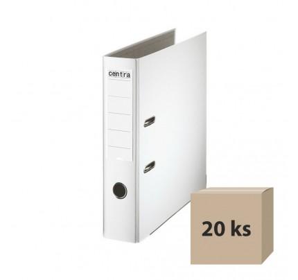 Zakladač pákový PP, A4, 7,5 cm, biely, 20 ks