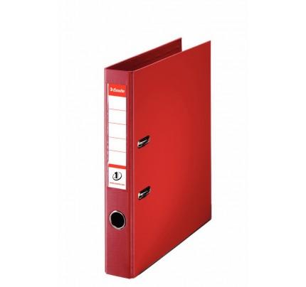Zakladač pákový Esselte No.1 Power, A4, celoplastový, 5 cm, červený