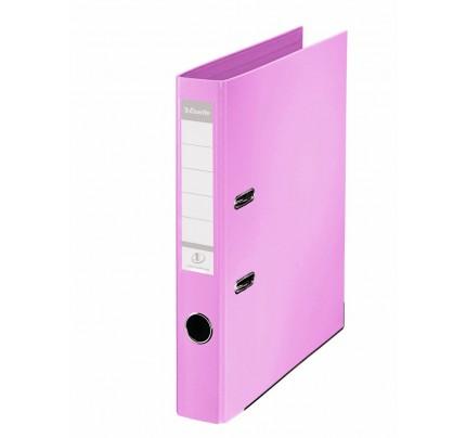 Zakladač pákový Esselte No.1 Power, A4, celoplastový, 5 cm, ružový