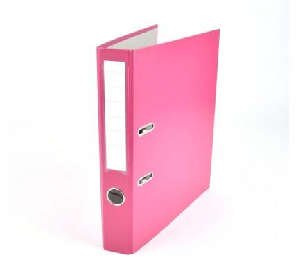 Zakladač pákový Esselte Economy, PP, A4, 5 cm, ružový