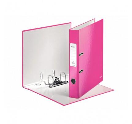 Zakladač pákový Leitz 180° WOW, A4, 5 cm, ružový