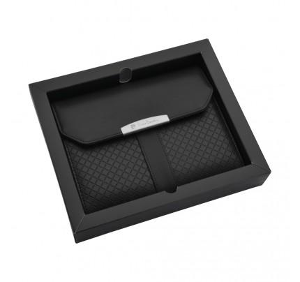 Portfólio s puzdrom na tablet Pierre Cardin Landes, čierne