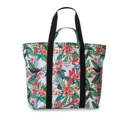 """Plážová taška """"Fabrizio"""" XXL, 48/66 x 48 x 20 cm, kvety a vtáčiky"""