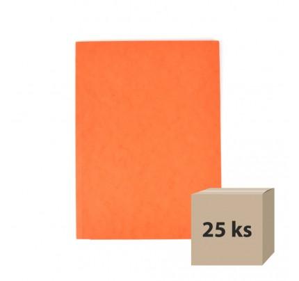 Odkladacia mapa OM3, s 3 chlopňami, A4, prešpán, oranžová, 25 ks