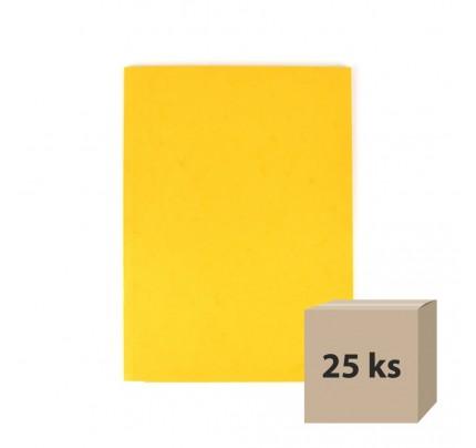Odkladacia mapa OM3, s 3 chlopňami, A4, prešpán, žltá, 25 ks