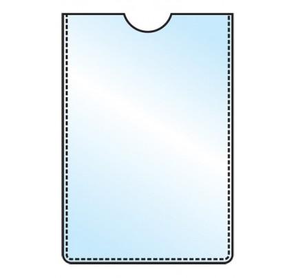 Obal PVC na kartičku 60 x 90 mm, 5 ks