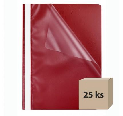 Rýchloviazač PP A4 , červený, 25 ks