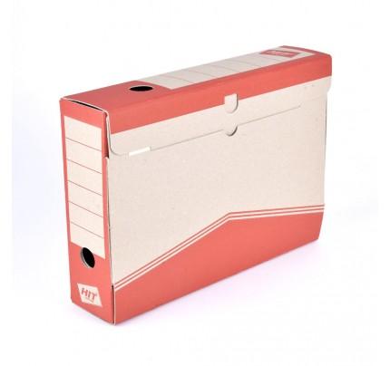 Box archívny 33 x 26 x 7,5 cm, červený