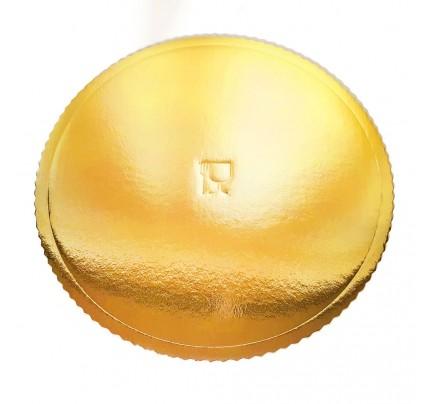 Podložka pod tortu, okrúhla, priemer 36 cm, zlatá, 5 ks