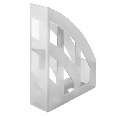 Stojan na spisy Herlitz, PVC, A4, transparentný biely