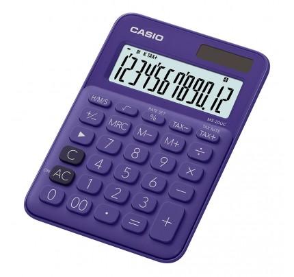 Kalkulačka stolová Casio MS 20 UC-PL, 12-miestna, fialová