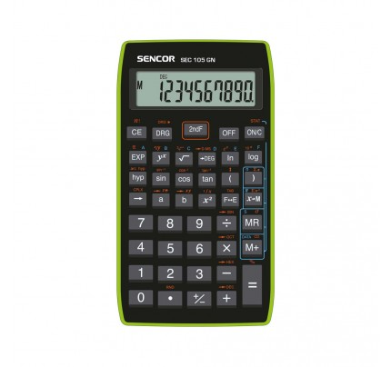 Kalkulačka Sencor SEC 105 GU s matematickými funkciami, 10-miestna, zelená