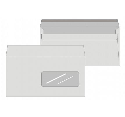 Obálky DL samolepiace, s okienkom, 100 ks