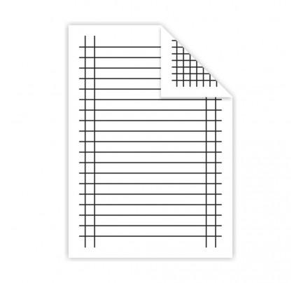 Podložka A5 do zošita, lamino, linajková + štvorček