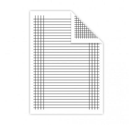 Podložka A4 do zošita, lamino, linajková + štvorček