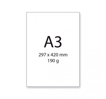 Výkres A3, 190 g, 20 hárkov