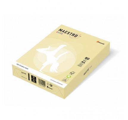Kancelársky kopírovací papier farebný MAESTRO color, A4, 80 g, pastelový, žltý YE23