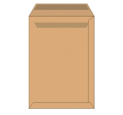 Obálky C4 samolepiace, hnedé, 500 ks