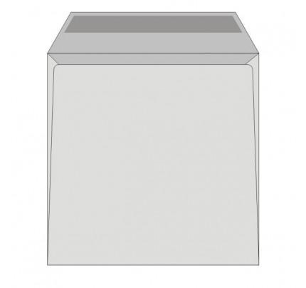 Obálky 162 x 162 mm obyčajné, biele, 25 ks