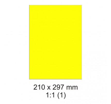 Etikety PRINT, 210 x 297 mm, neónovožlté, 20 hárkov