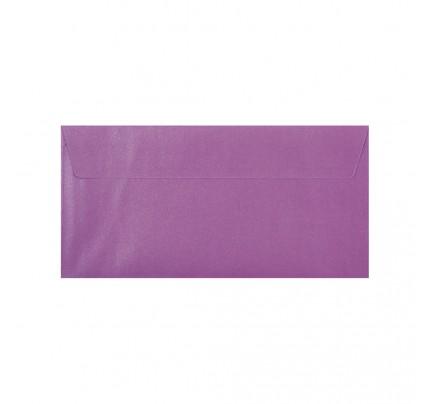 Farebné obálky DL, s odtrhávacou páskou, perleťové orgovánové, 5 ks