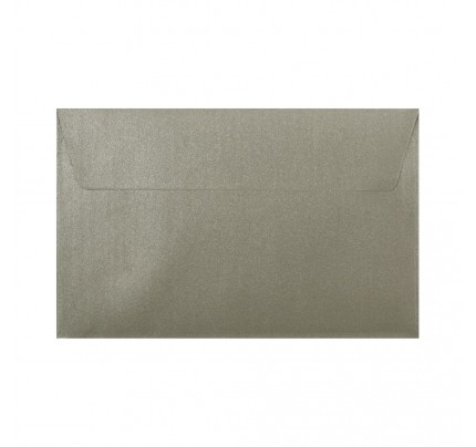 Farebné obálky C5, s odtrhávacou páskou, perleťové svetlostrieborné, 5 ks