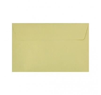 Farebné obálky C5, s odtrhávacou páskou, perleťové šampanské, 5 ks