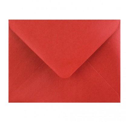 Farebné obálky C7, obyčajné, perleťové červené, 5 ks
