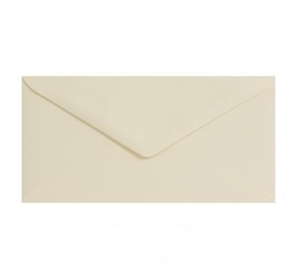 Farebné obálky DL, obyčajné, krémové, 5 ks