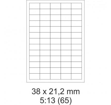 Etikety PRINT, 38 x 21,2 mm, 30 hárkov