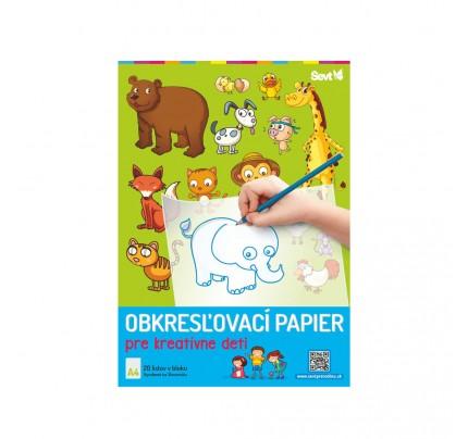 Obkresľovací papier pre kreatívne deti, A4, 20-listový blok