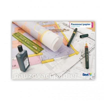Pauzovací papier A4, 90 g, 20-listový blok