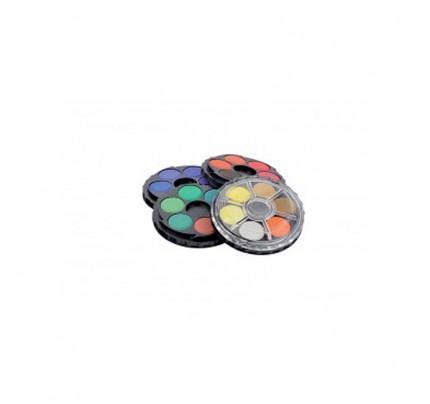 Vodové farby Koh-i-noor, priemer 22,5 mm, súprava 24 ks
