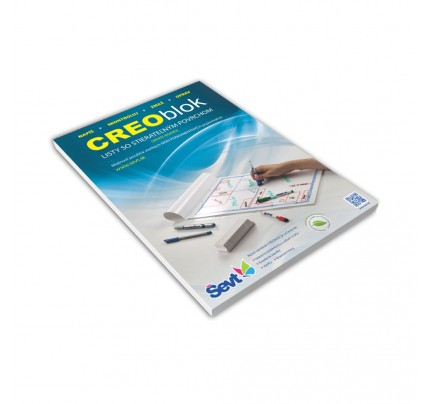 CREO Blok A2, 20 listov, laminovaný, lepený, dierovaný