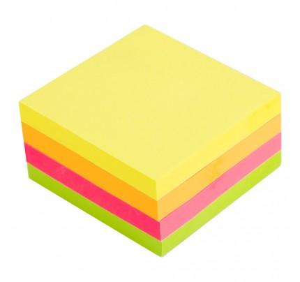 Samolepiaci blok Deli Stick Up, 76 x 76 mm, 400 listov, mix 4-neónových farieb