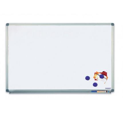 Biela magnetická tabuľa v hliníkovom ráme, 100 x 200 cm