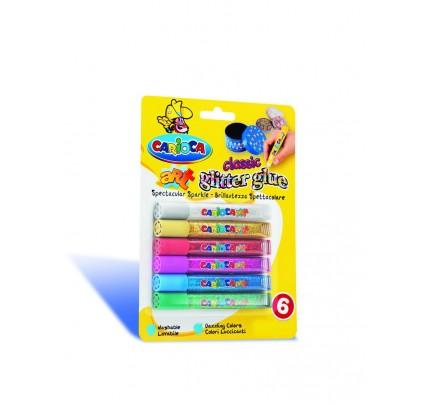 Farby Carioca Glitter Glue, 10,5 ml, sada 6 ks