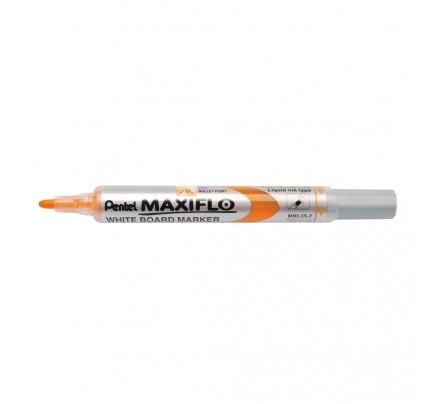 Popisovač na tabule Pentel Maxiflo MWL5S-D, 4 mm, oranžový