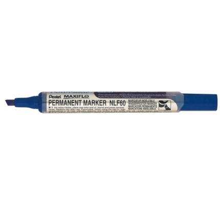 Popisovač permanentný Pentel NLF60-C, 2 – 4,5 cm, modrý