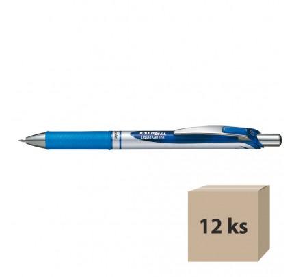 Gélový roller Pentel Energel BL77-C, modrý, 12 ks