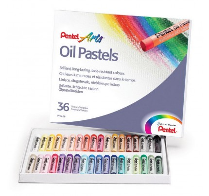 Pastely olejové Pentel Arts PHN4-36, sada 36 ks