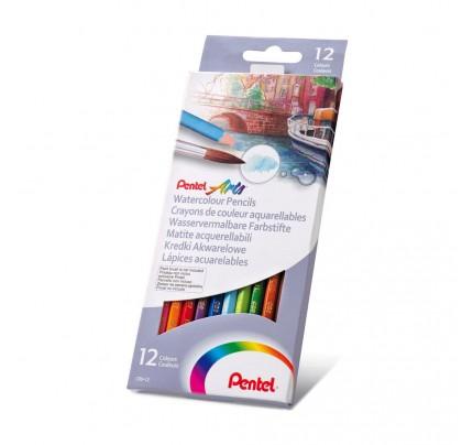 Akvarelové farbičky Pentel Arts, súprava 12 ks