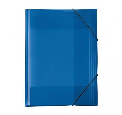 """Odkladacia mapa OM3, s 3 chlopňami a gumičkou, A3, """"Crystal"""", modrá"""