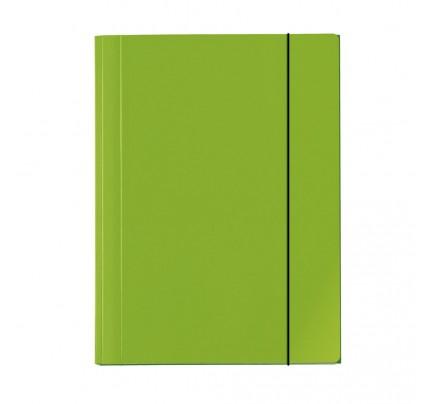 """Odkladacia mapa OM3 s gumou """"Velocolor"""", kartón, A3, zelená"""