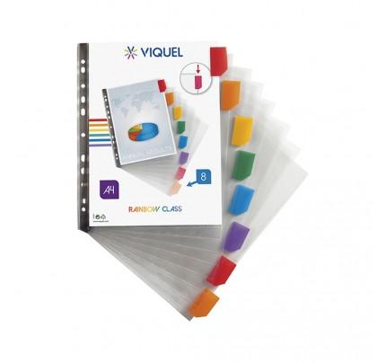 Euroobal Viquel s farebný registrom A4, lesklý, 8 ks