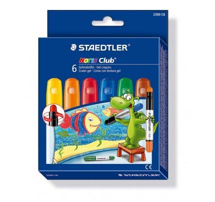 Voskové farbičky Staedtler gelové, súprava 6 ks