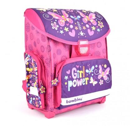 "Anatomická školská taška ""kvietky s motýľmi"""